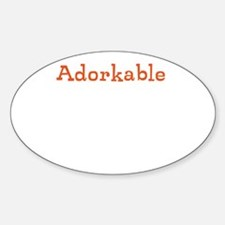 Cute Adorkable Sticker (Oval)
