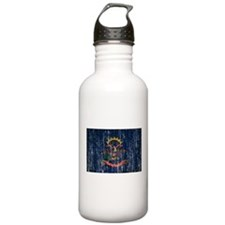 North Dakota Flag Water Bottle