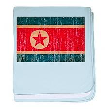 North Korea Flag baby blanket