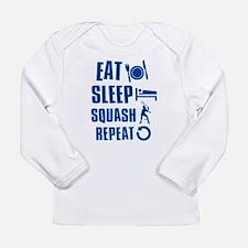 Eat Sleep Squash Long Sleeve Infant T-Shirt