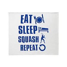 Eat Sleep Squash Throw Blanket