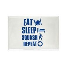 Eat Sleep Squash Rectangle Magnet