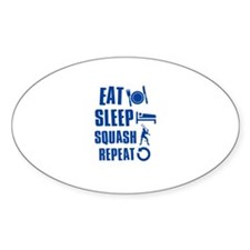 Eat Sleep Squash Decal