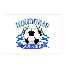 Honduras Soccer designs Postcards (Package of 8)