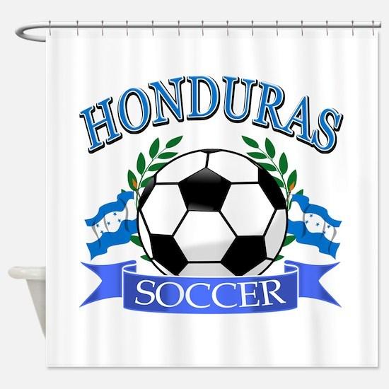 Honduras Soccer designs Shower Curtain