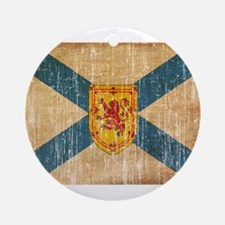 """Nova Scotia Flag Ornament (Round)"