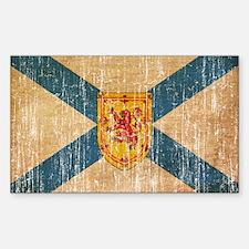 """""""Nova Scotia Flag Sticker (Rectangle 10 pk)"""