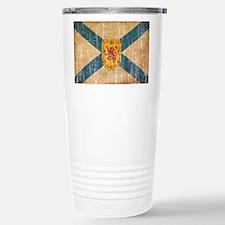 """Nova Scotia Flag Stainless Steel Travel Mug"