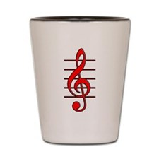 TREBLE CLEF- RED copy.png Shot Glass