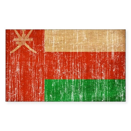 Oman Flag Sticker (Rectangle)