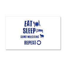 Eat Sleep Sumo Car Magnet 20 x 12