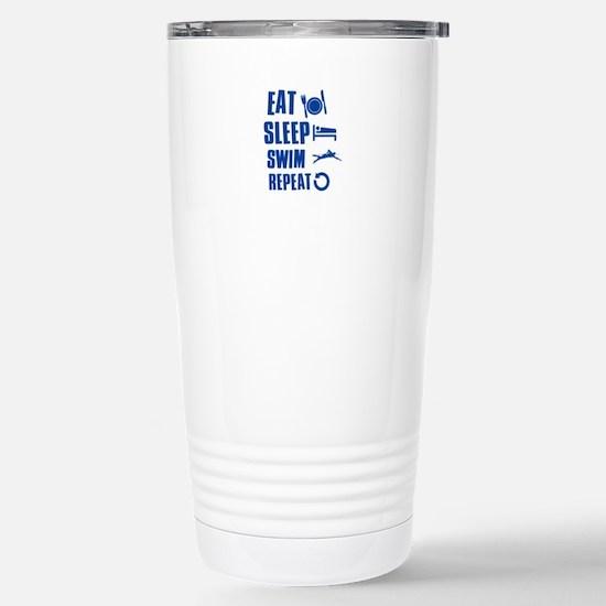Eat Sleep Swim Stainless Steel Travel Mug