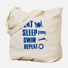 Eat Sleep Swim Tote Bag
