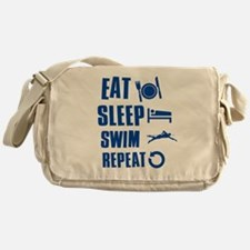 Eat Sleep Swim Messenger Bag