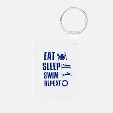 Eat Sleep Swim Keychains
