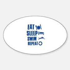 Eat Sleep Swim Decal