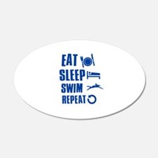Eat Sleep Swim Wall Decal