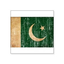 "Pakistan Flag Square Sticker 3"" x 3"""