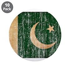 """Pakistan Flag 3.5"""" Button (10 pack)"""