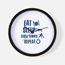 Eat Sleep Table Tennis Wall Clock