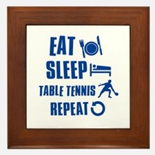 Eat Sleep Table Tennis Framed Tile
