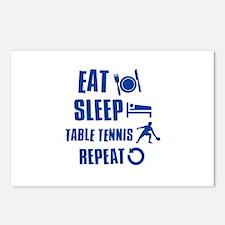 Eat Sleep Table Tennis Postcards (Package of 8)