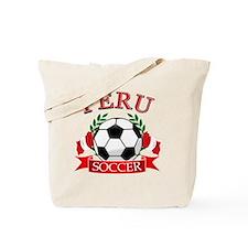 Peru Soccer designs Tote Bag