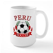 Peru Soccer designs Ceramic Mugs