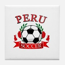 Peru Soccer designs Tile Coaster