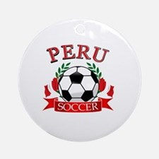 Peru Soccer designs Ornament (Round)