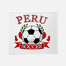 Peru Soccer designs Throw Blanket