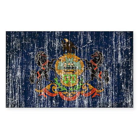 Pennsylvania Flag Sticker (Rectangle)