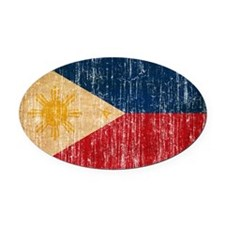 Philippines Flag Oval Car Magnet
