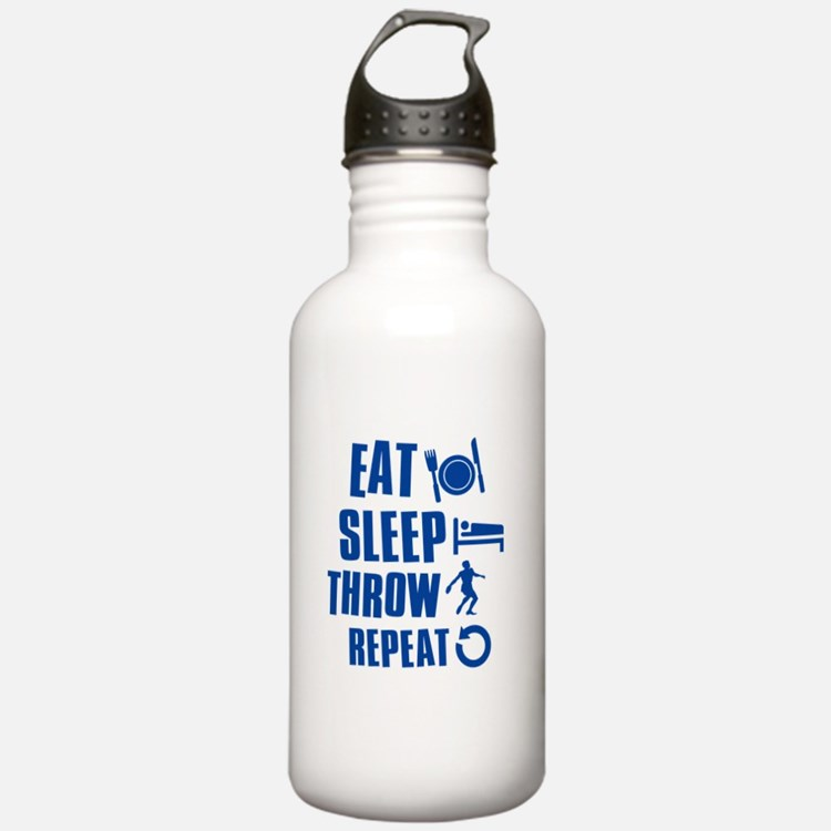 Eat Sleep Throw Discus Water Bottle