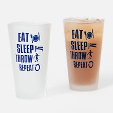 Eat Sleep Throw Discus Drinking Glass