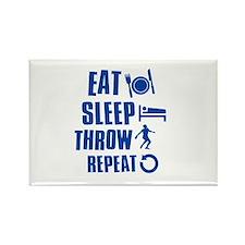 Eat Sleep Throw Discus Rectangle Magnet