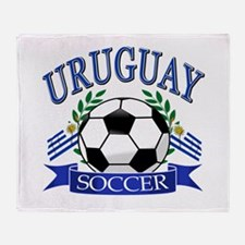 Uruguay Soccer designs Throw Blanket