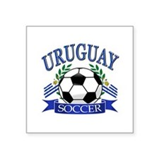 "Uruguay Soccer designs Square Sticker 3"" x 3"""