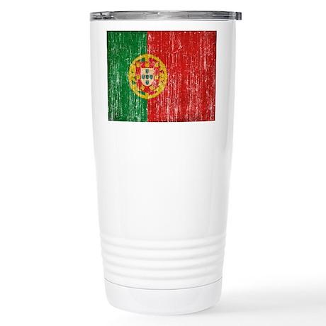 Portugal Flag Stainless Steel Travel Mug