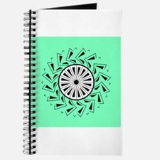 Unique Green Graphical Design Journal