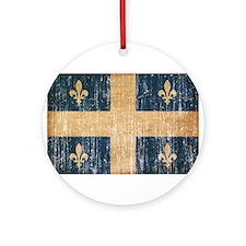 Quebec Flag Ornament (Round)