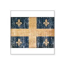 """Quebec Flag Square Sticker 3"""" x 3"""""""