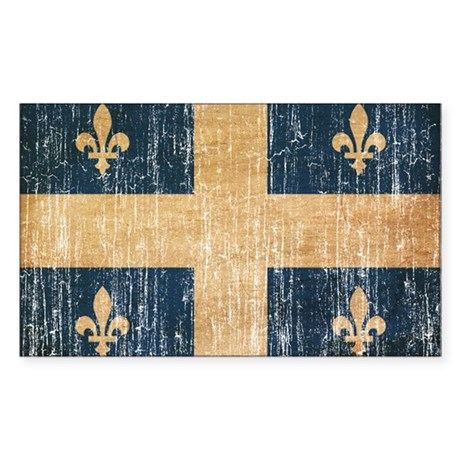 Quebec Flag Sticker (Rectangle)