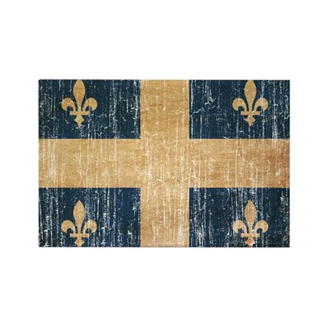 Quebec Flag Rectangle Magnet (10 pack)
