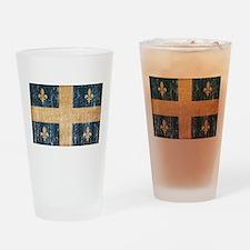 Quebec Flag Drinking Glass