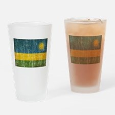 Rwanda Flag Drinking Glass