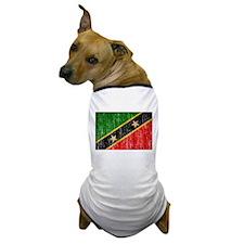 Saint Kitts Nevis Flag Dog T-Shirt