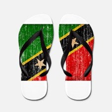 Saint Kitts Nevis Flag Flip Flops