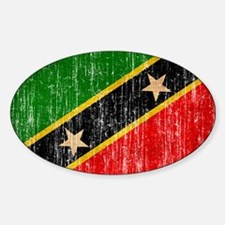 Saint Kitts Nevis Flag Decal