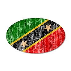 Saint Kitts Nevis Flag Wall Decal